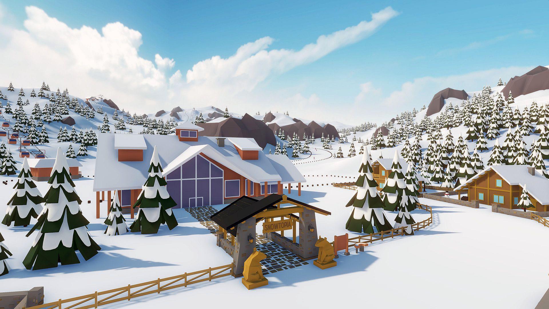 Build your dream ski resort in Snowtopia from tomorrow