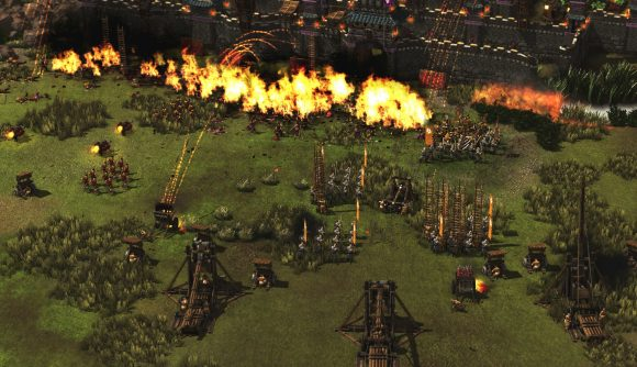 Fire missile ranged attack in Stronghold: Warlords