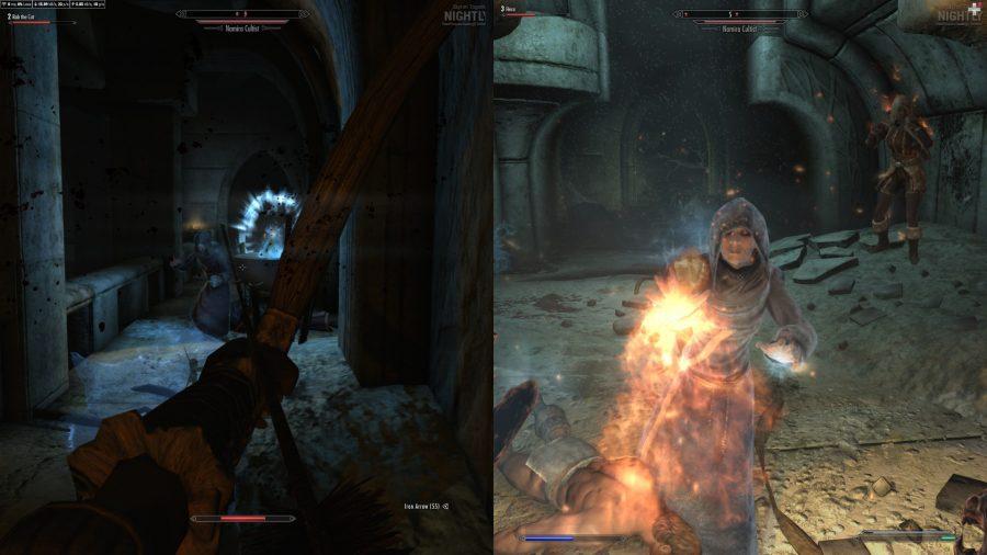 Splitscreen combat in Skyrim