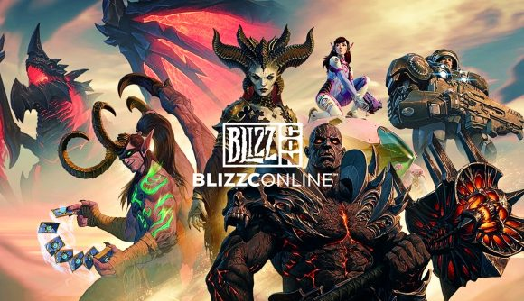 A cast of characters from Blizzard's games