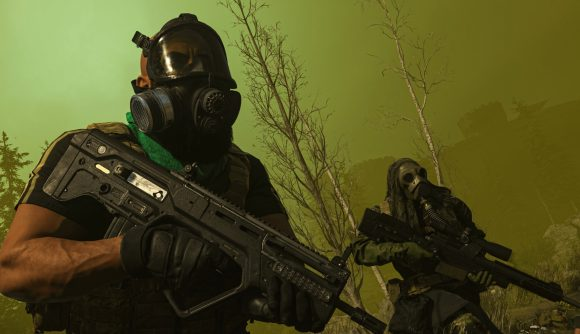 Two Warzone operatives stand in the smoke