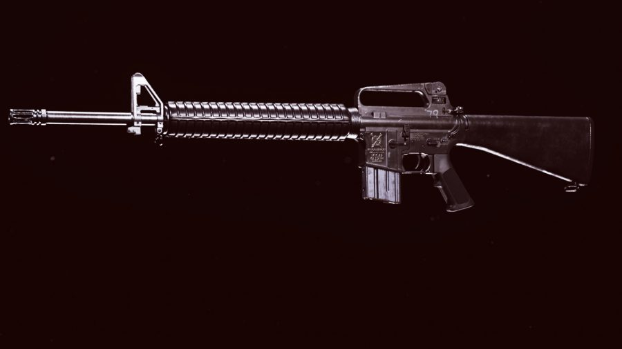The stock M16 tactical rifle from Call of Duty Black Ops Cold War in Call of Duty Warzone's preview weapon menu
