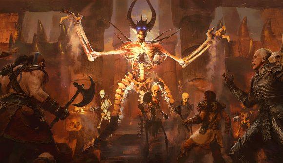 Concept art of Diablo 2 Resurrected's Maphisto