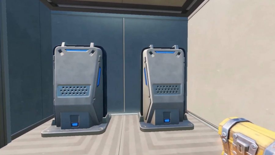 A couple of Surface Hubs in Fortnite. These two are next to a chest.