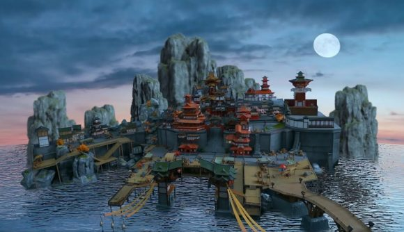A beautiful, fan-made model of Genshin Impact's Liyue Harbor
