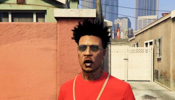 A citizen of Los Santos talking about Gamestonk in GTA V