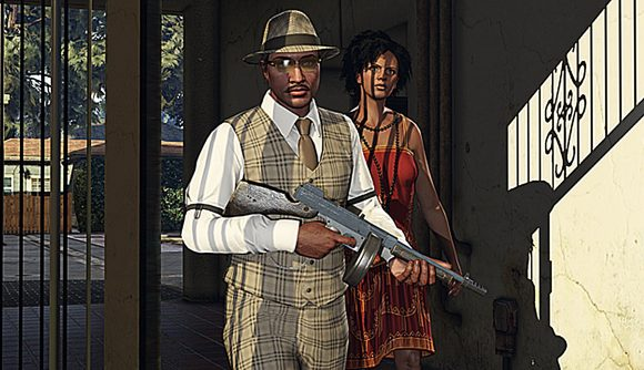 A couple playing death match in GTA Online