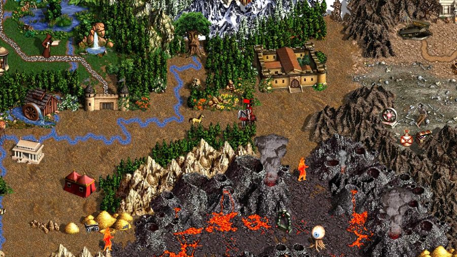 the player in heroes 3 is travelling through the land