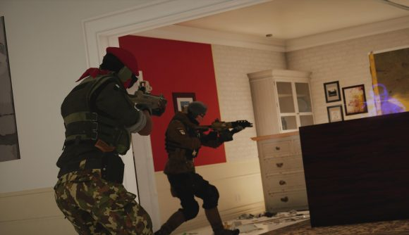 Two operators on the attack in Rainbow Six Siege