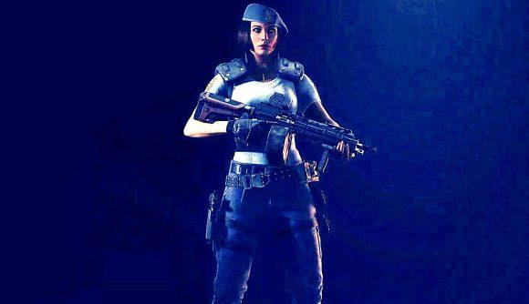 Rainbow Six Siege operator Zofia wearing a Jill Valentine skin