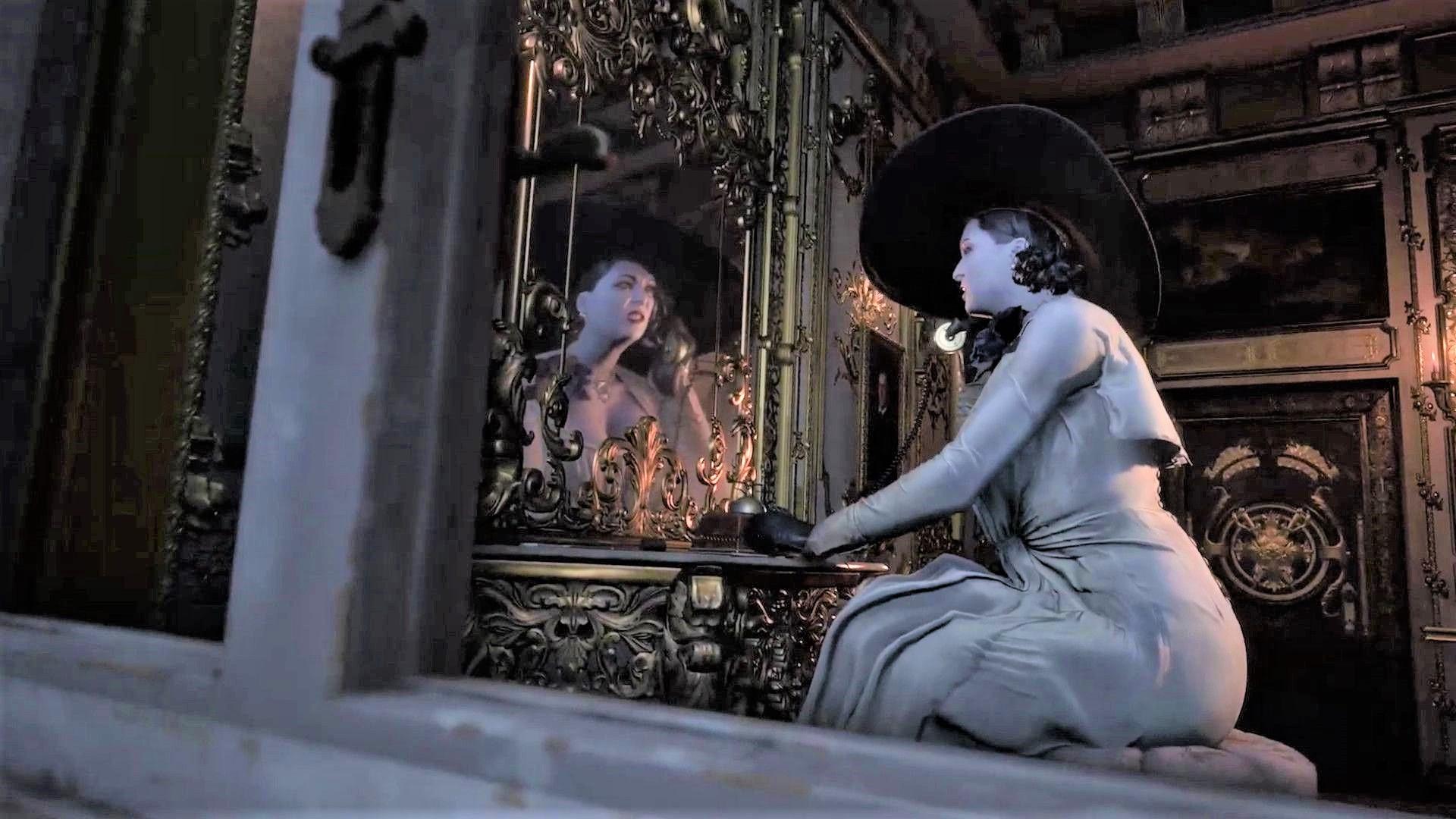 resident evil village lady dimitrescu mirror.