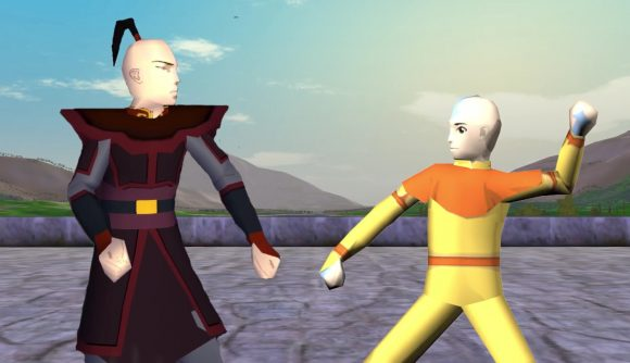 aang and zuko face off