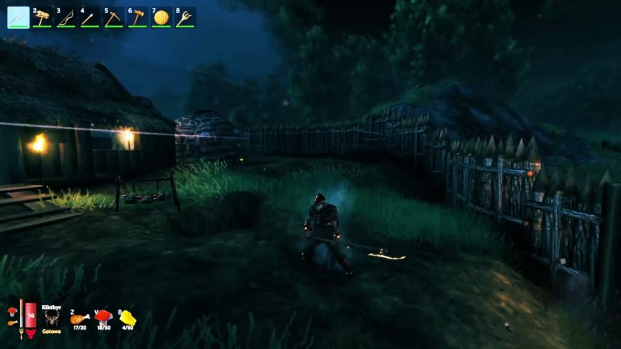 Une capture d'écran du BetterUI Valheim Mod avec des éléments d'interface utilisateur colorés
