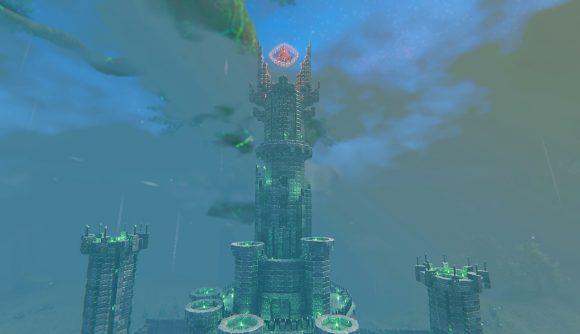The tower of LOTR villain Sauron rebuilt in Valhiem