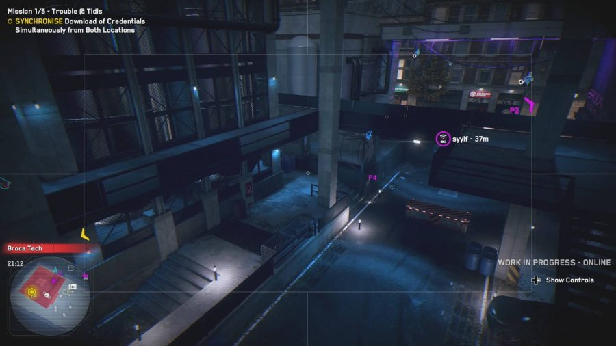 Solving a puzzle with a drone in Watch Dogs Legion multiplayer