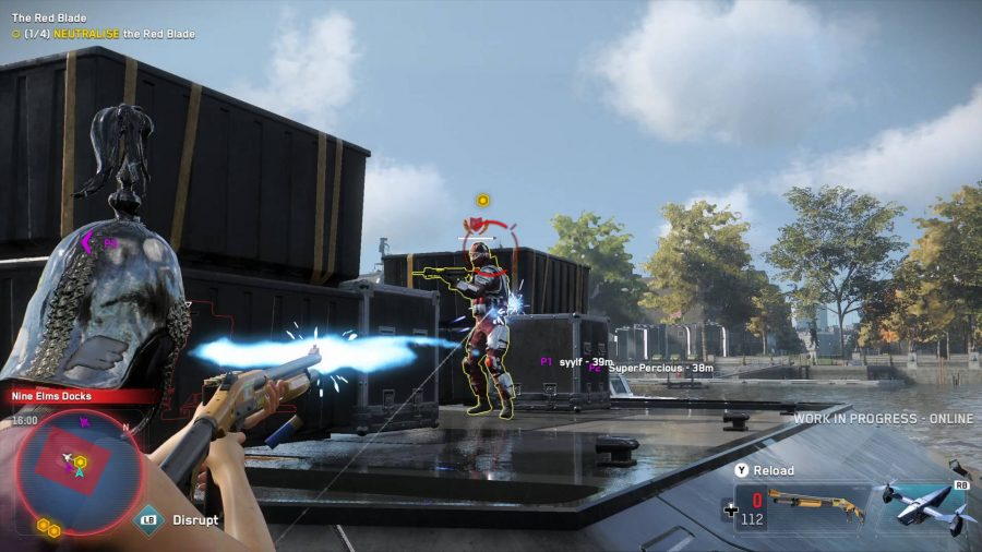 Player Shooting Albion Guard in Watch Dogs Legion Multiplayer