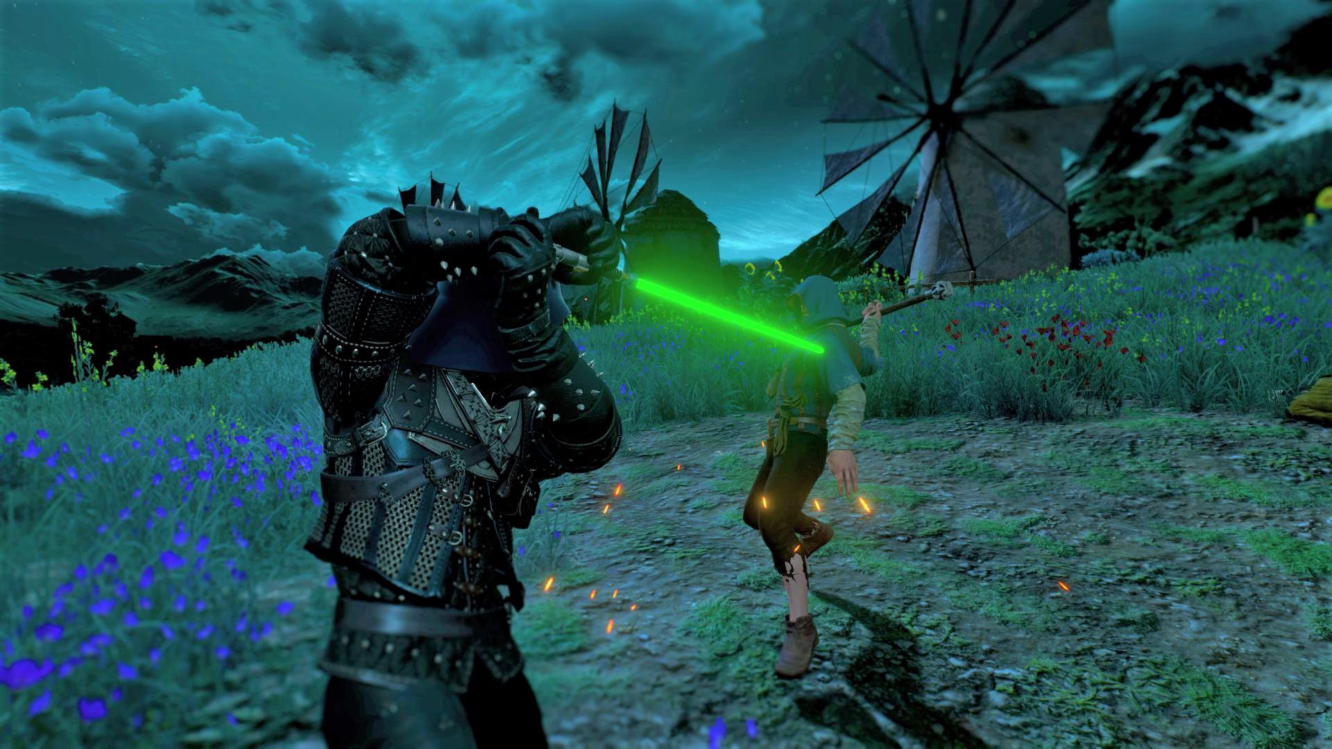 This Witcher 3 mod gives Geralt a Star Wars lightsaber