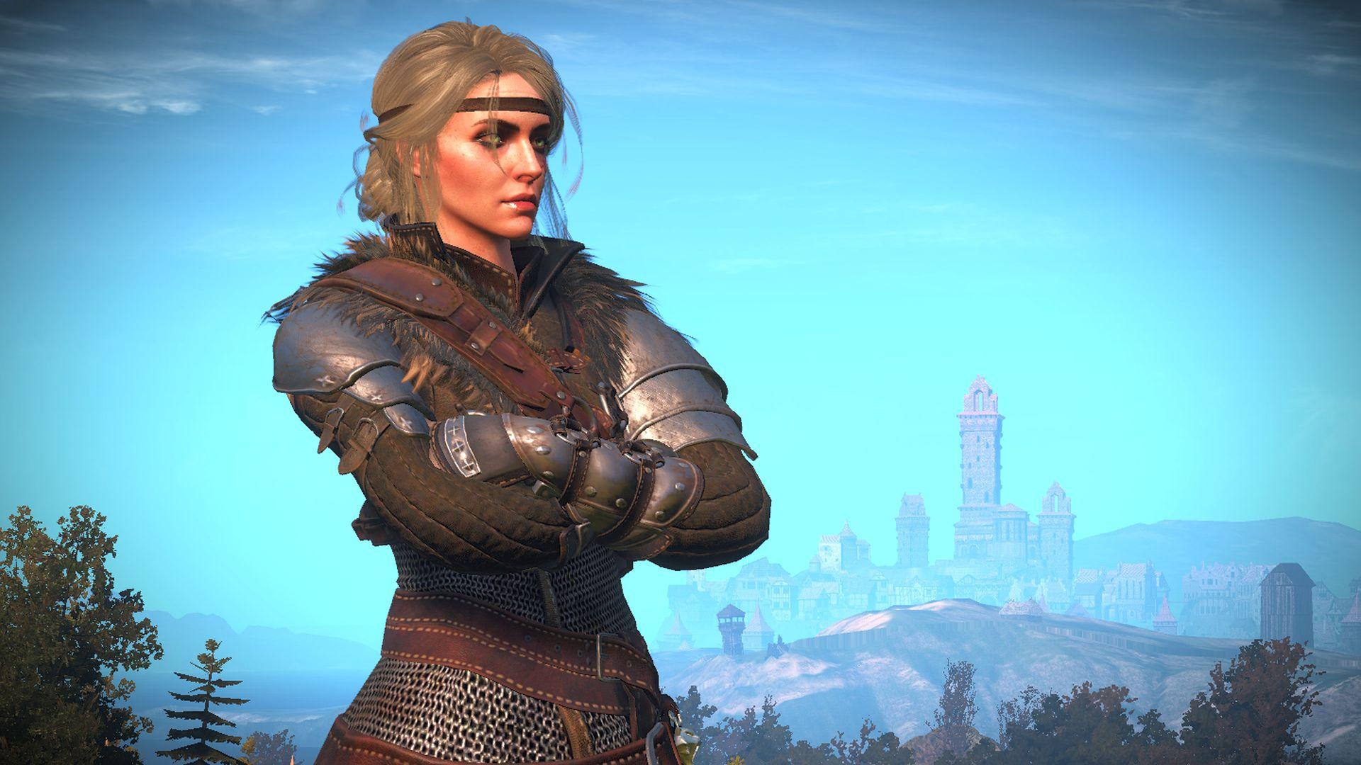 This Witcher 3 mod gives Ciri Geralt's best armour