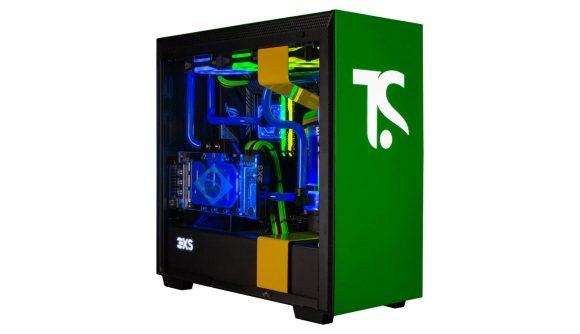 A custom PC designed by footballer Thiago Silva alongside Nvidia and Scan Computers