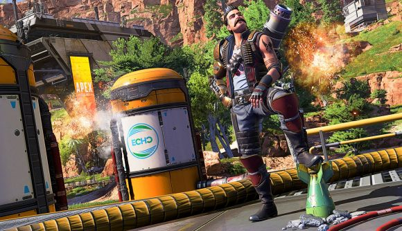 New Legend Fuse posing with a bomb in Apex Legends