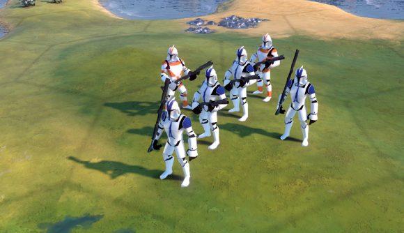 Star Wars clone troopers in civ 6