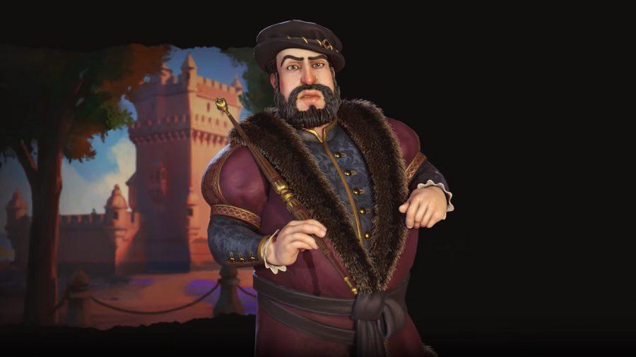 Joao III rendered in Civ 6