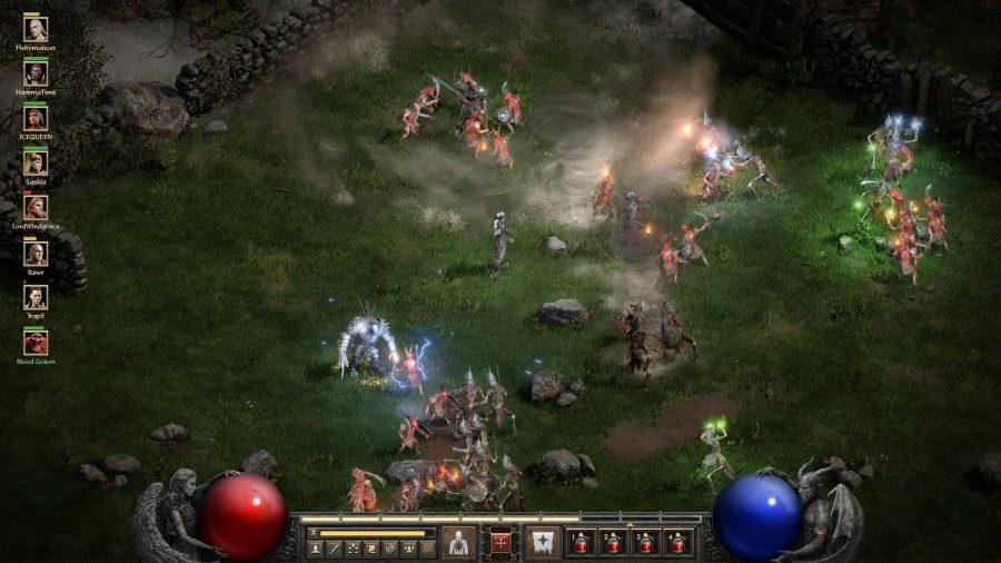Combat in Diablo 2 Resurrected