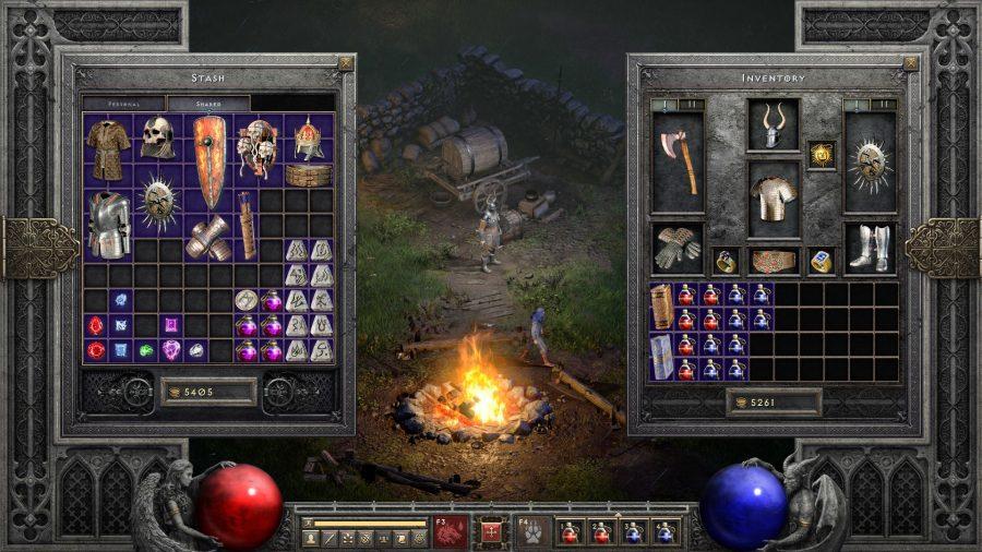 Diablo 2 Resurrected shared loot stash