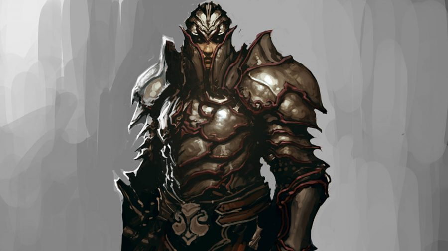 Hulk followers of Diablo 3 covered with massive armor.