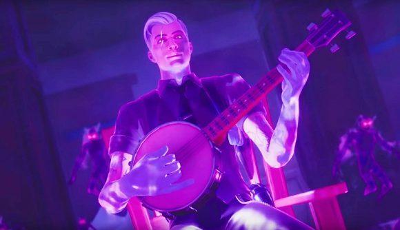 Fortnite's Midas playing a banjo