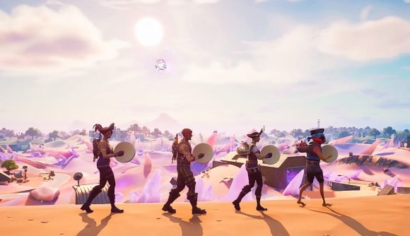 A crew of Fortnite players singing a sea shanty