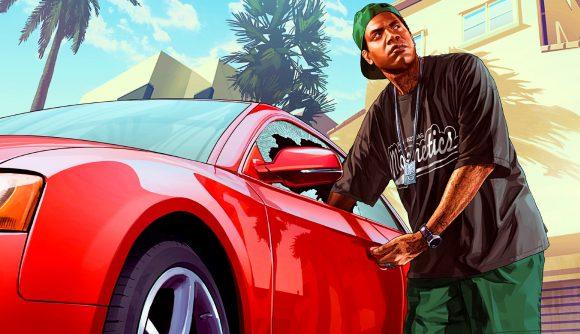 GTA 5's Lamar breaks into a car