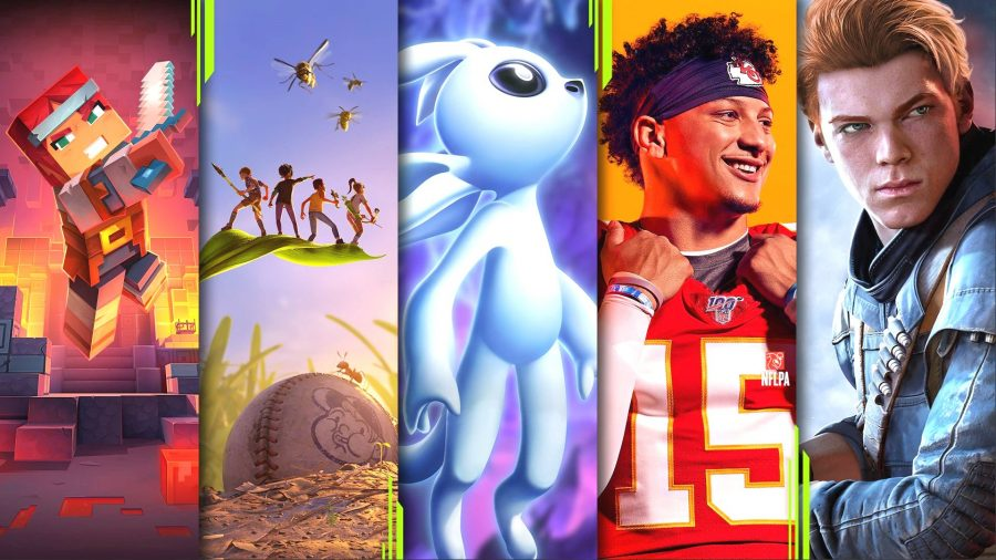 A selection of the PC games available with Xbox Game Pass
