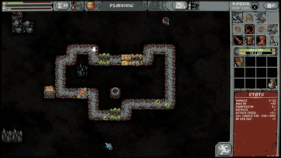 Mid-game circuit in Loop Hero