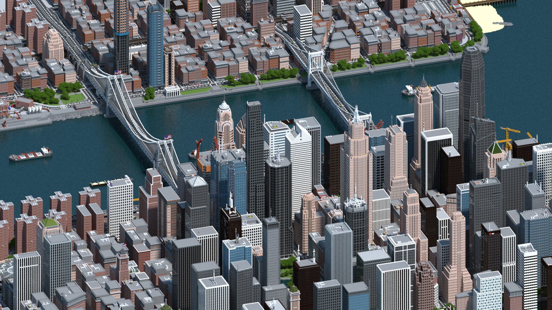 Minecraft player spends three years creating a fictional US city