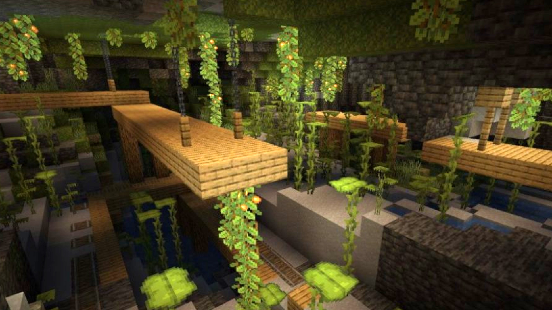 Minecraft devs reveal lush caves biome and enhanced shader support
