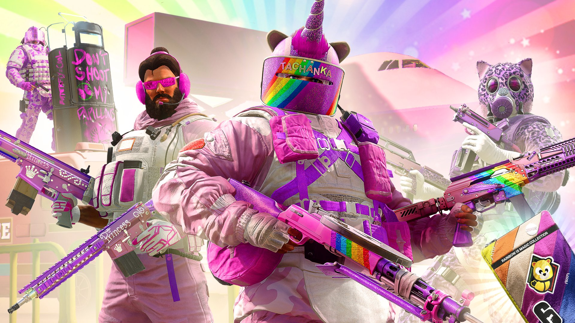 Rainbow is Magic skins are back in Siege for April Fools
