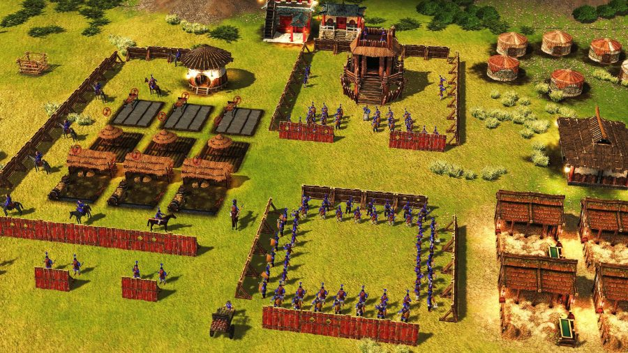 Building military barracks in Stronghold: Warlords