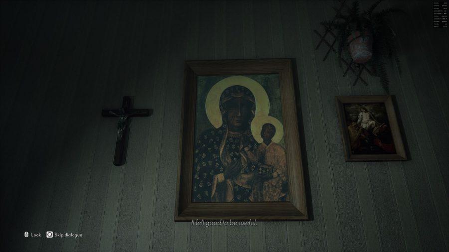 Czarna Madonna w środku