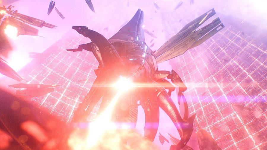 Mass Effect Reaper landing on Earth