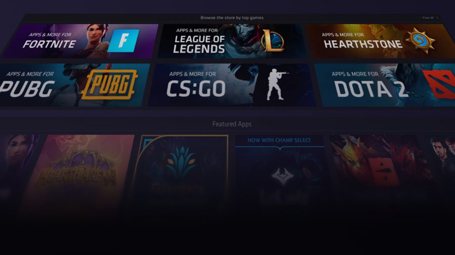 Overwolf has applications for plenty of games, like Fortnite, League of Legends, Hearthstone, PUBG, CS:GO, and more