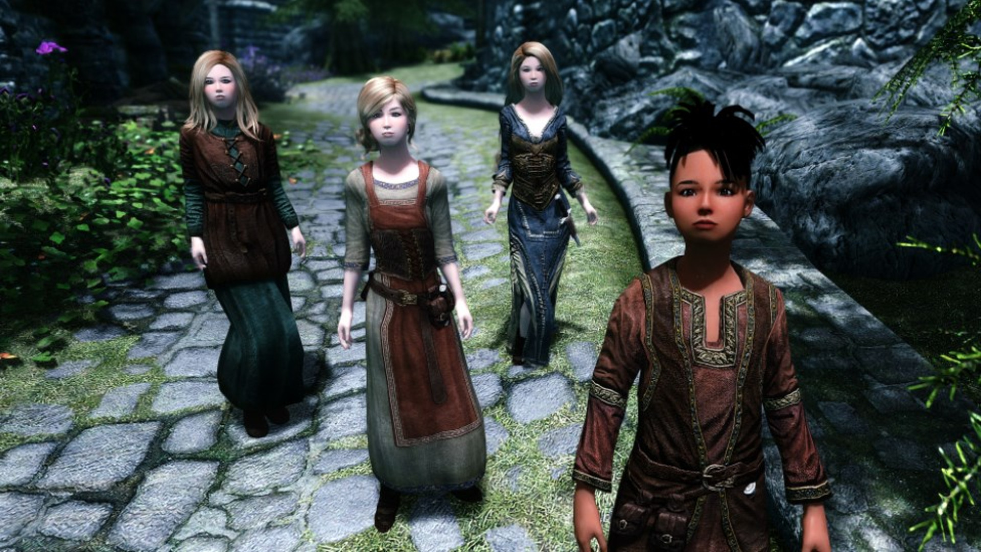 This Skyrim mod remasters the children