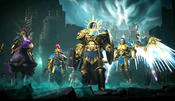 Stormcast eternal units from age of sigmar storm ground
