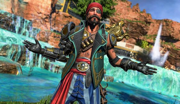 Apex Legends' Mirage in a pirate outfit