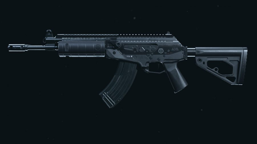The stock CR-56 AMAX assault rifle in Call of Duty: Warzone's preview menu