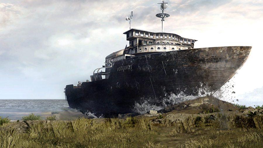 Лодка Vodiano врезается в Верданск Call of Duty: Warzone