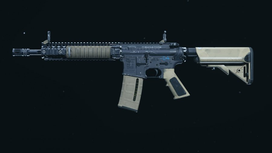 The M4A1 assault rifle in Call of Duty Warzone's preview menu