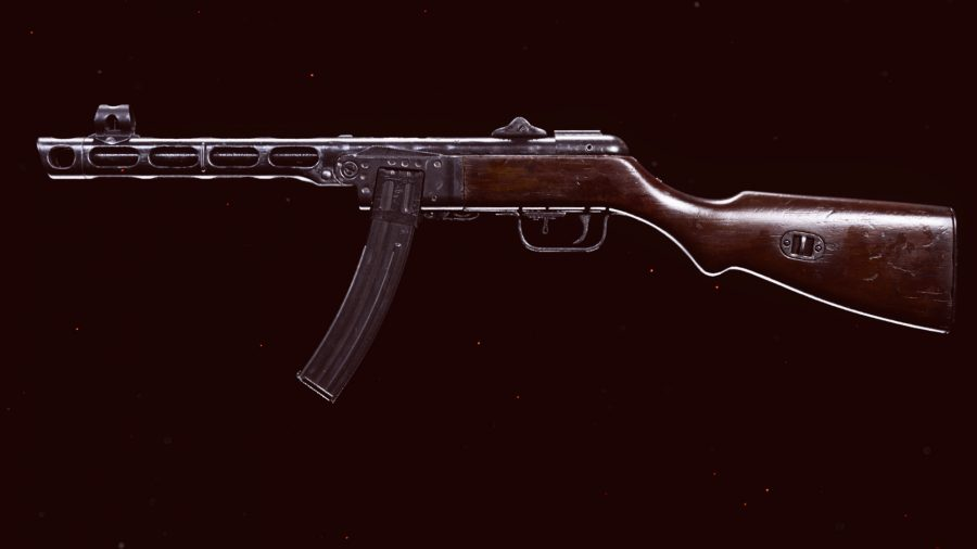 The PPSh SMG in Call of Duty Warzone's preview menu