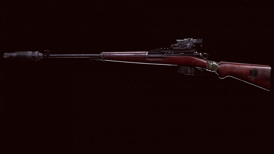 The Swiss K31 sniper rifle in Call of Duty Warzone's preview menu