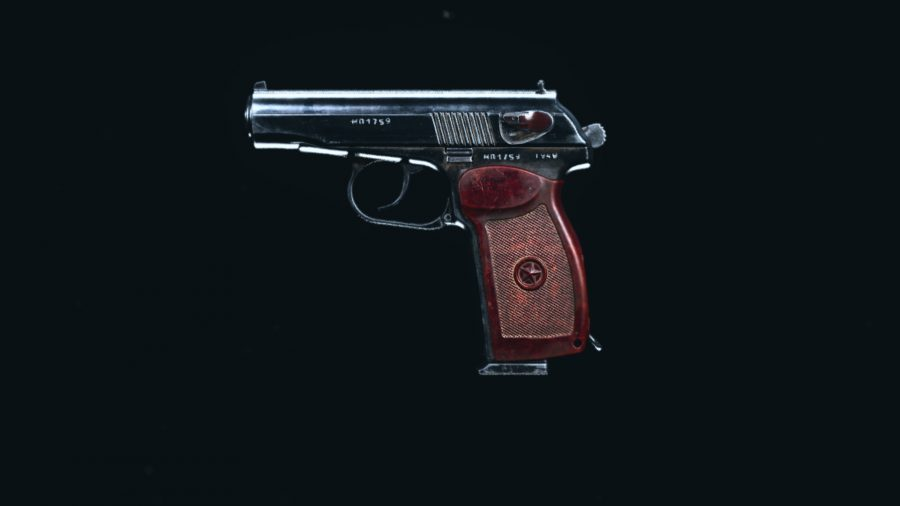 The stock Sykov pistol in Call of Duty Warzone's preview menu